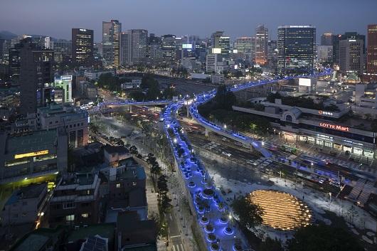 서울로 7017 야경 <사진=서울시 제공>