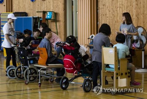 특수학교 '우진학교'의 수업모습<사진=연합뉴스>