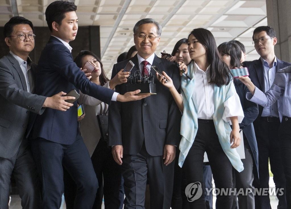 검찰에 출석하는 추명호 전 국정원 국장<사진=연합뉴스>