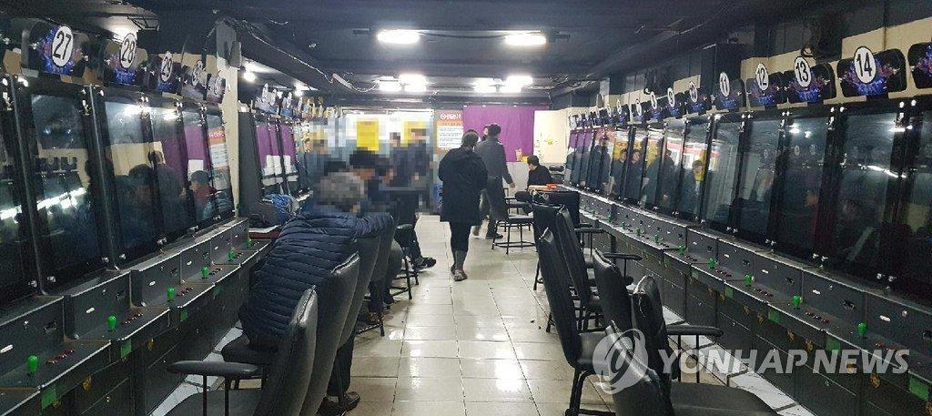 단속된 불법 오락실 내부<사진=연합뉴스>