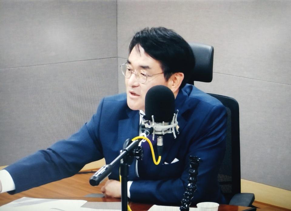tbs '김어준의 뉴스공장'에 출연한 더불어민주당 박용진 의원