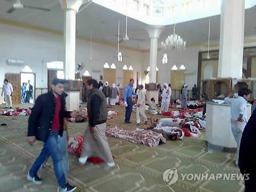 이집트 모스크 테러 현장<사진=연합뉴스>