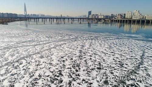 한파에 얼어붙은 한강<사진=연합뉴스>