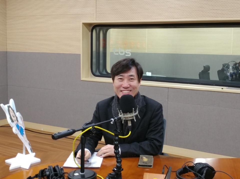 tbs '김어준의 뉴스공장' 출연한 하태경 바른정당 최고위원 <사진=안경원 기자>