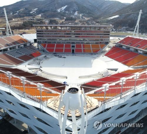 평창동계올림픽 개폐막식이 열리는 평창 올림픽플라자<사진=연합뉴스>