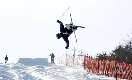 우리 국가대표 모굴 스키 연습 모습 <사진=연합뉴스>
