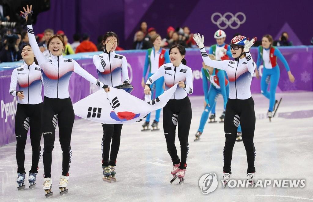여자 쇼트트랙 3,000m 대표팀<사진=연합뉴스>
