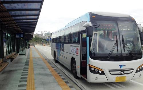 청라∼강서 BRT 버스 <사진=연합뉴스=인천교통공사 제공>