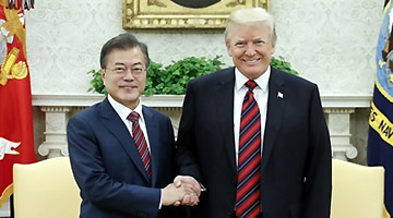 President Moon Jae-in and U.S. President Donald Trump agree to work together to make the U.S.-North Korea summit happen as scheduled. The two leaders held a summit at the White House in Washington, D.C. on May 22, 2018.