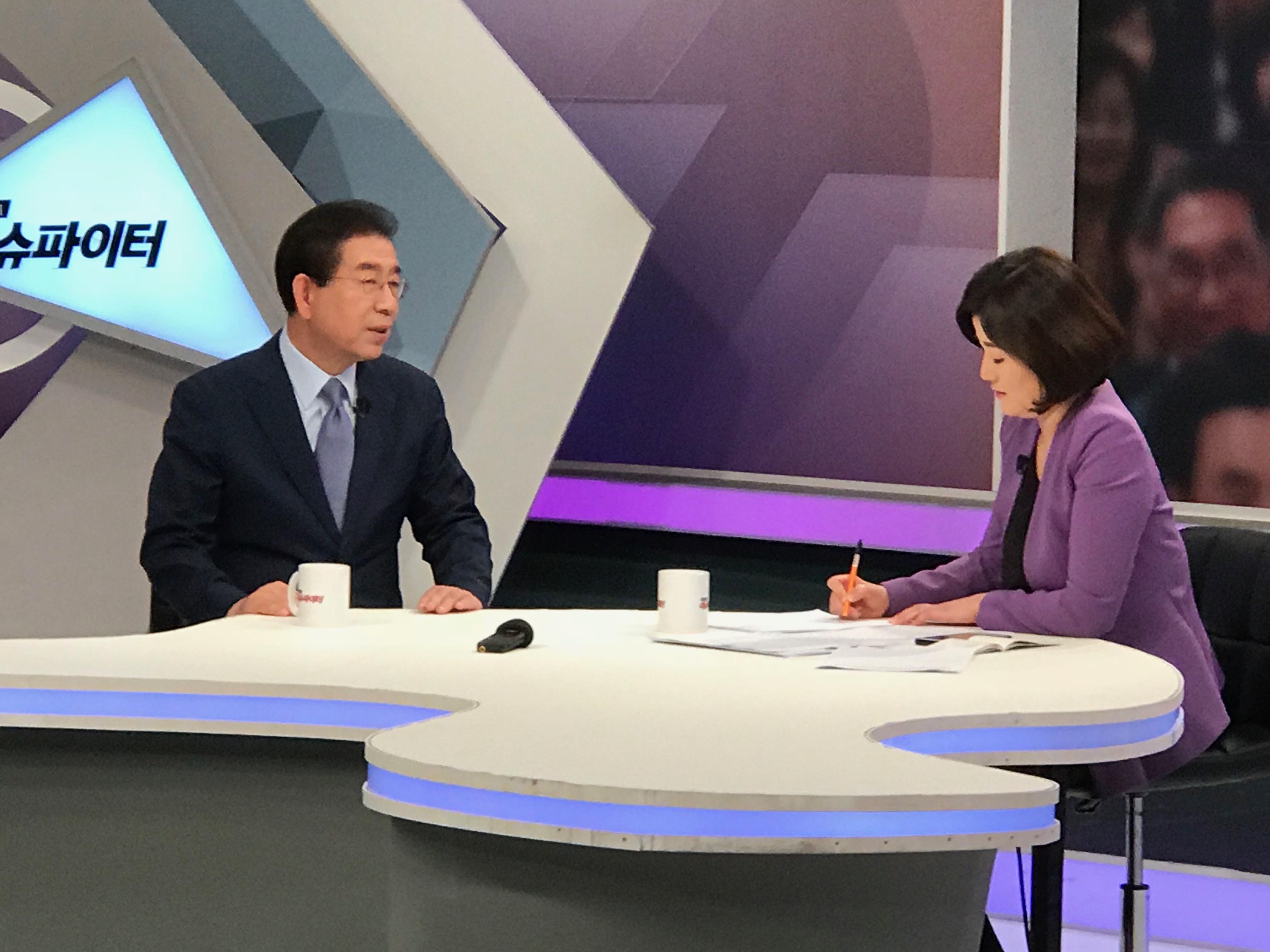 tbs TV에 출연한 박원순 서울시장