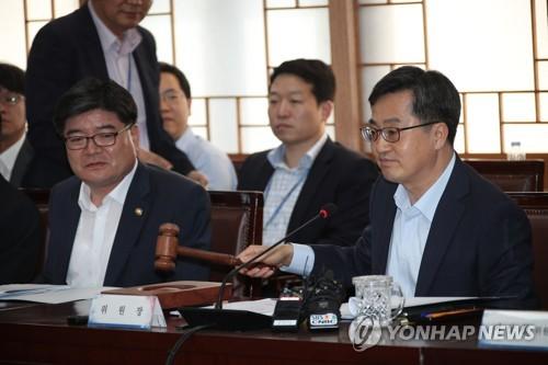 공공기관운영위 개회하는 김동연 부총리 <사진 = 연합뉴스>