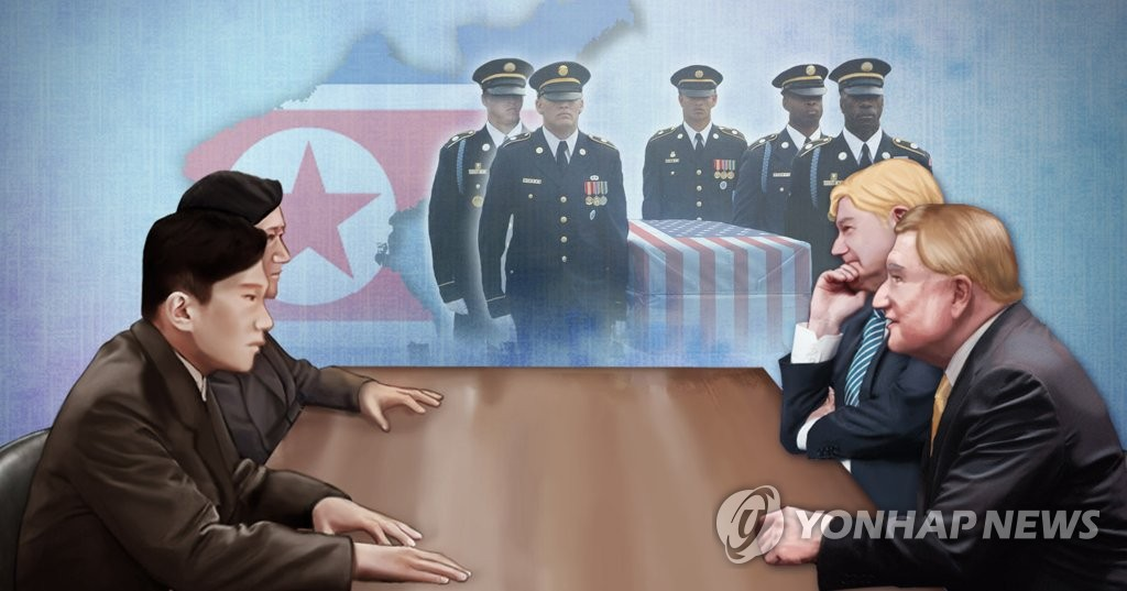 U.S. and North Korea hold working-level talks to discuss repatriating remains of American soldiers killed in Korean War.