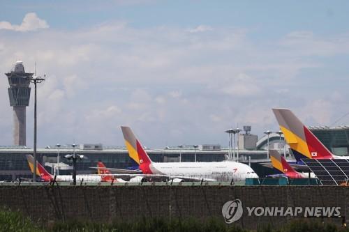 아시아나 항공기들