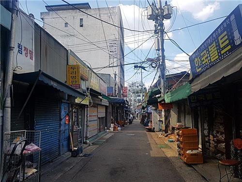 산업용 자재 상가가 모인 세운 3구역 <사진=연합뉴스>