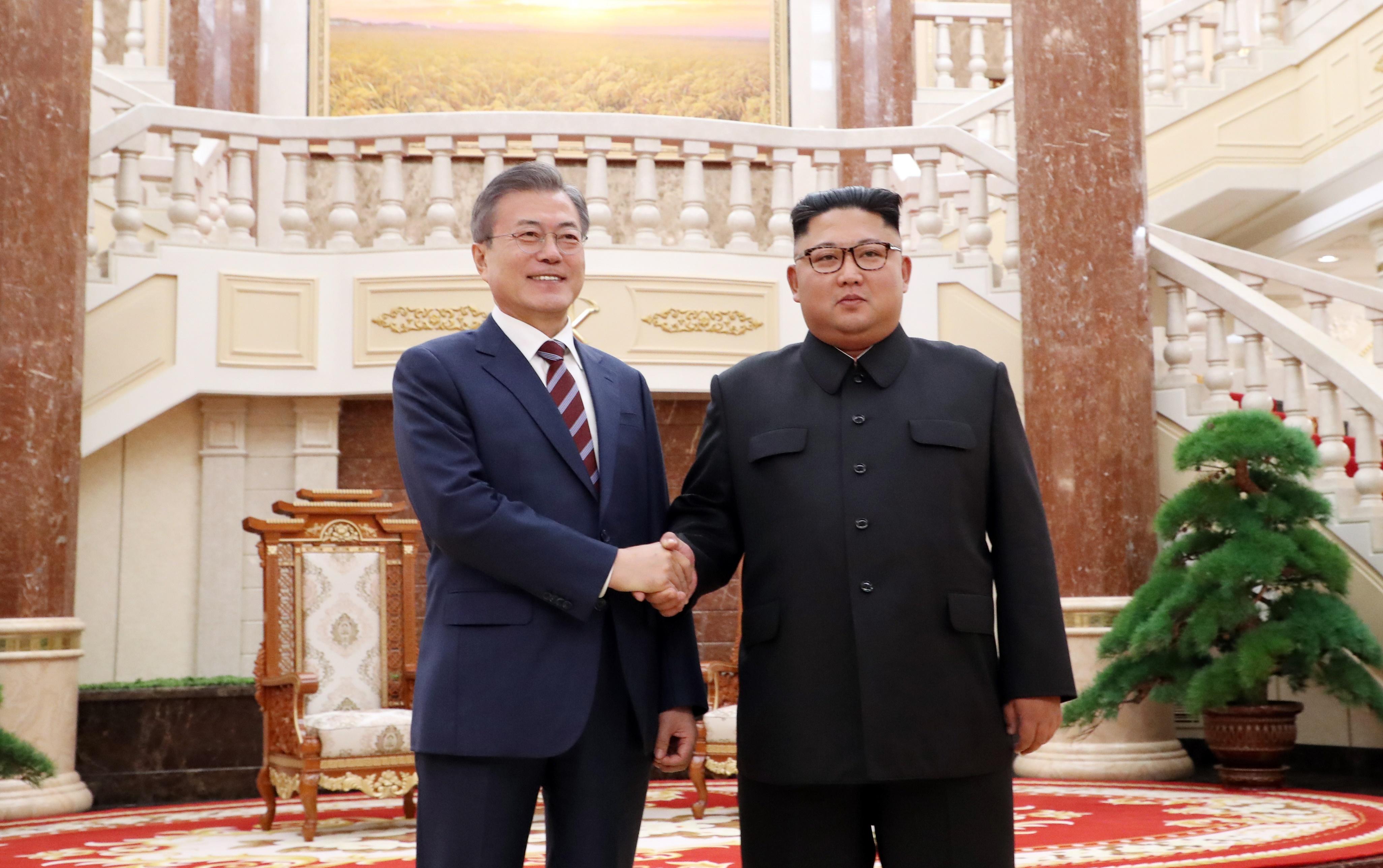 남북정상, 1일차 정상회담<사진=평양사진공동취재단>