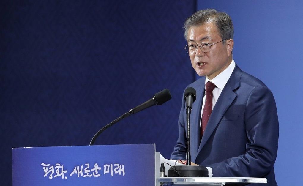 대통령, DDP서 방북결과 '대국민 보고'<사진=연합뉴스>