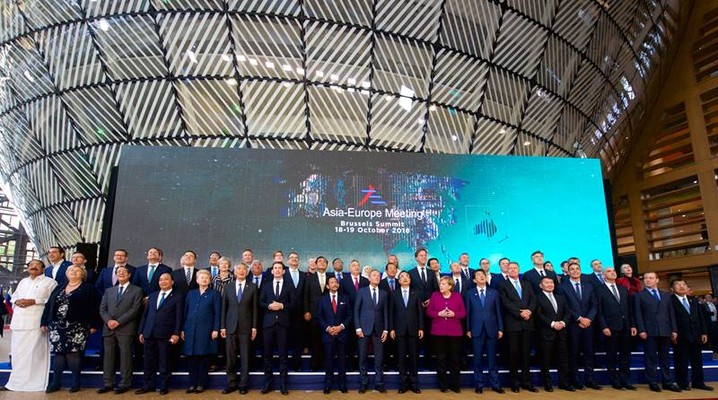 아셈 정상회의 기념 촬영 <사진=EU홈페이지/연합뉴스>