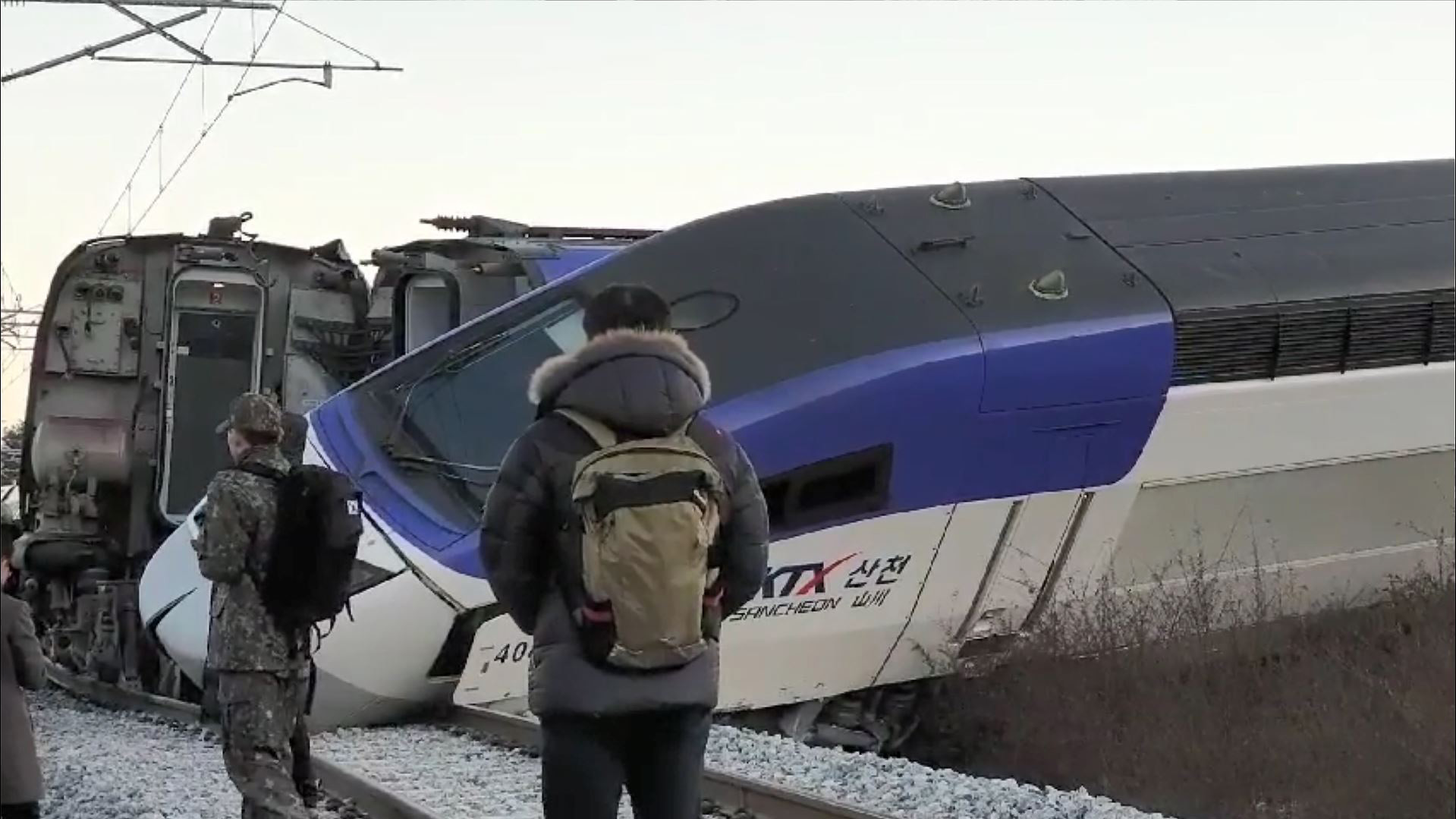 a KTX train derailed in Gangneung <Photo: Yonhap News>