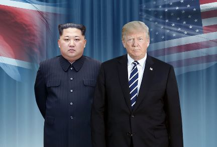 김정은-트럼프 <사진=연합>