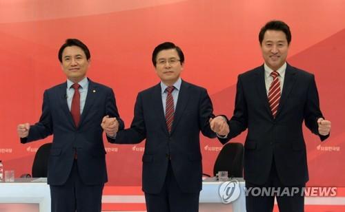 자유한국당 당 대표 후보들<사진=연합뉴스>