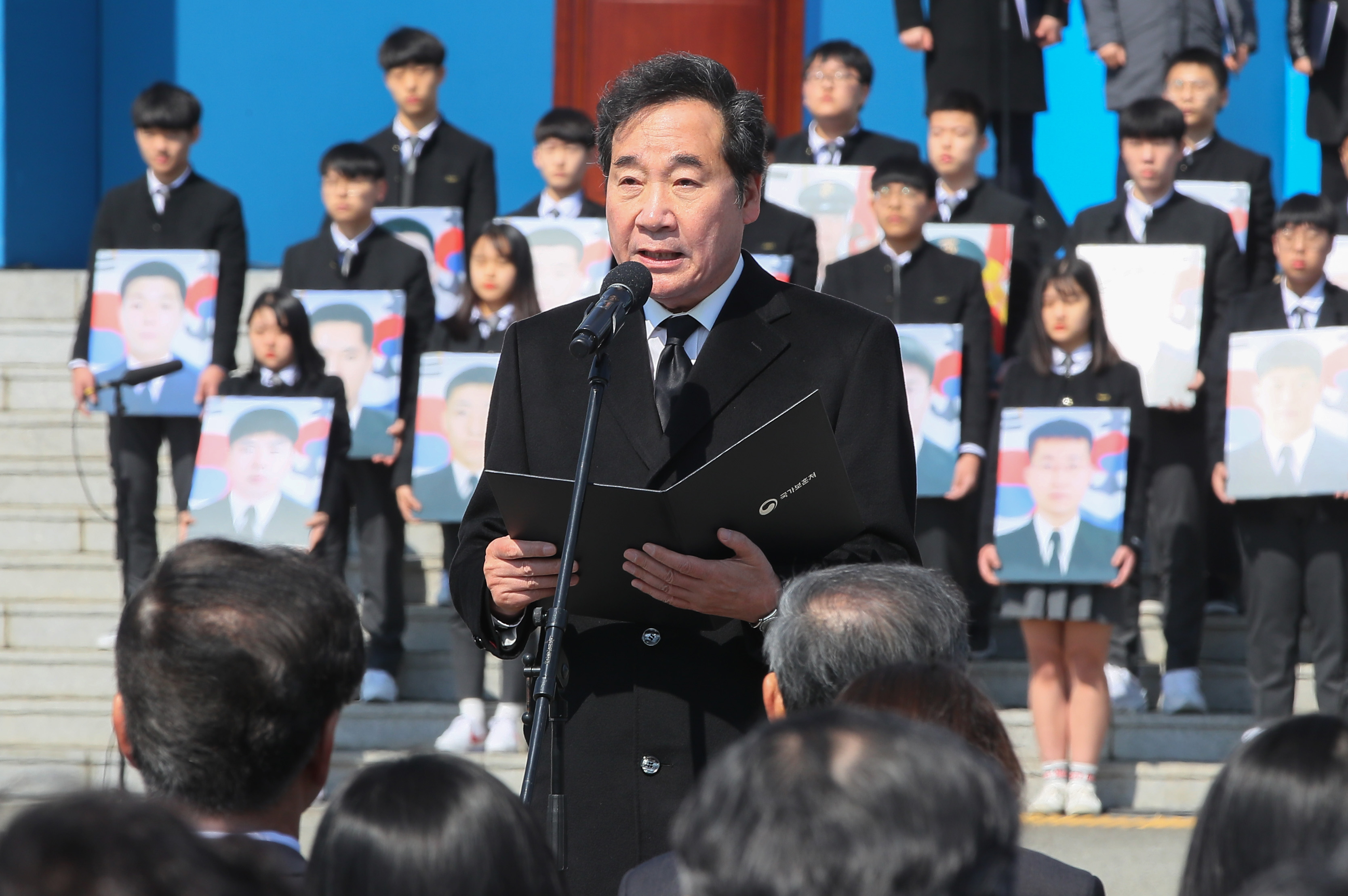 Prime Minister Lee Nak-yon speaks at a ceremony to mark West Sea Defense Day on Friday, March 22, 2019. <Photo: Yonhap News>