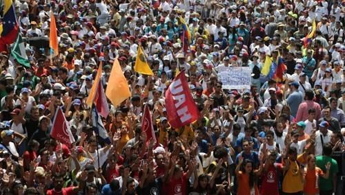 베네수엘라 카라카스에서 열린 반정부 시위<사진=연합뉴스>