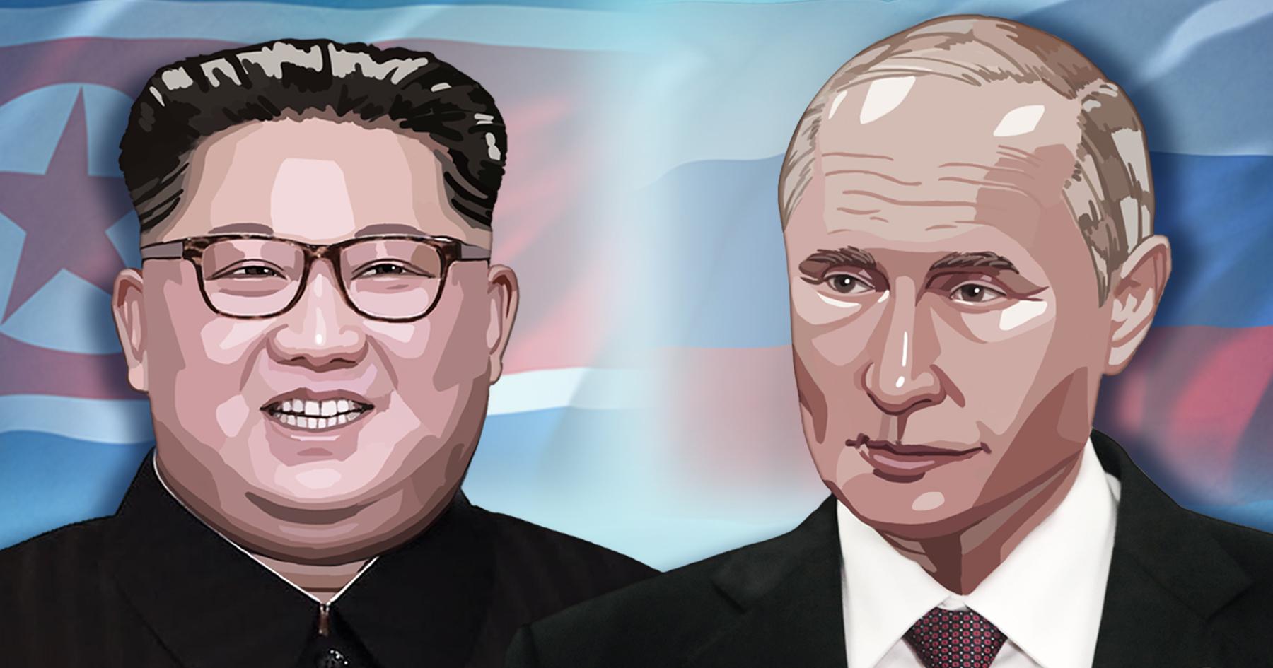 김정은 북한 국무위원장과 러시아 푸틴 대통령 <사진=연합>