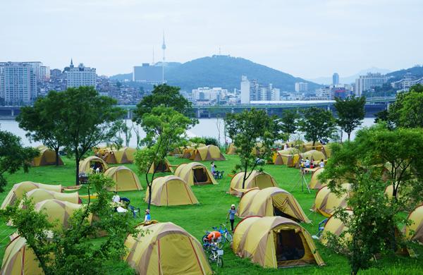 한강 텐트 <사진=서울시>