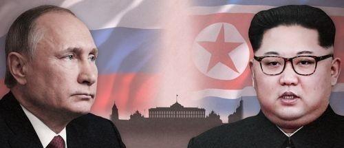 푸틴 대통령과 김정은 국무위원장 <사진=연합>