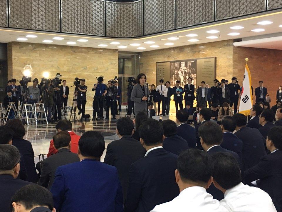 자유한국당 나경원 원내대표 <사진=tbs>