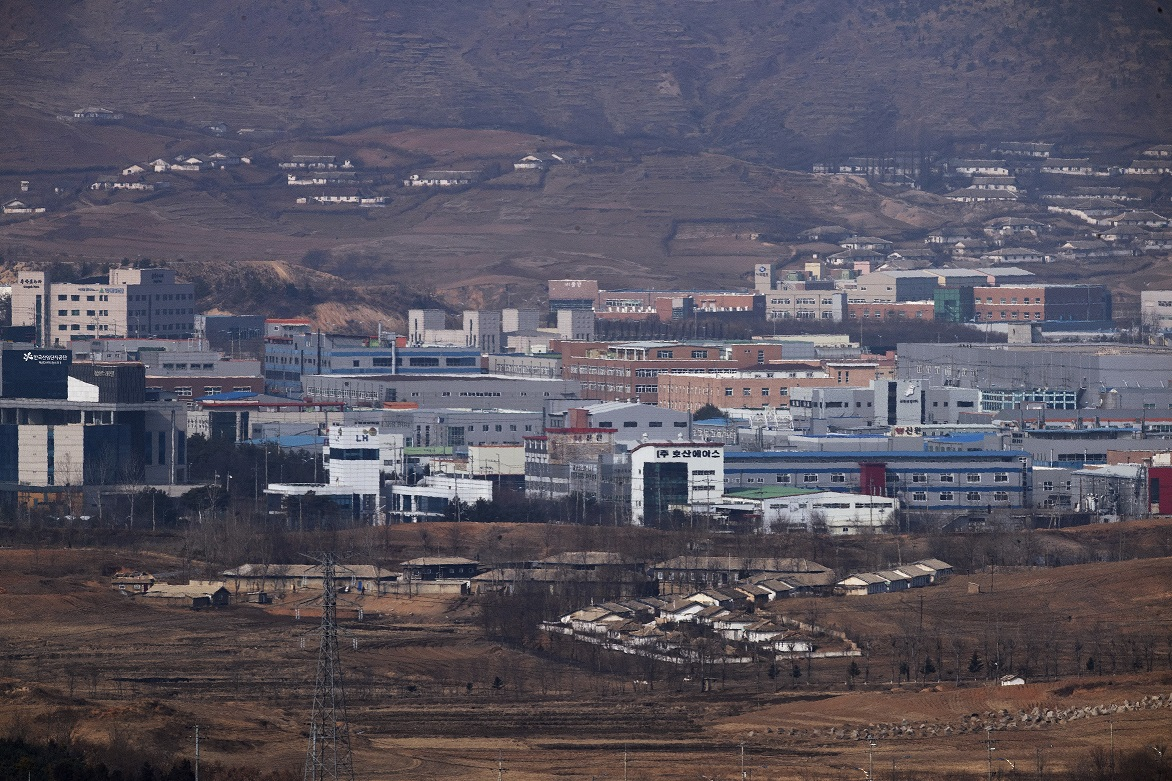 The currently shuttered Kaesong Industrial Complex which is a joint inter-Korean economic project north of the Demilitarized Zone. <Photo: Yonhap News>