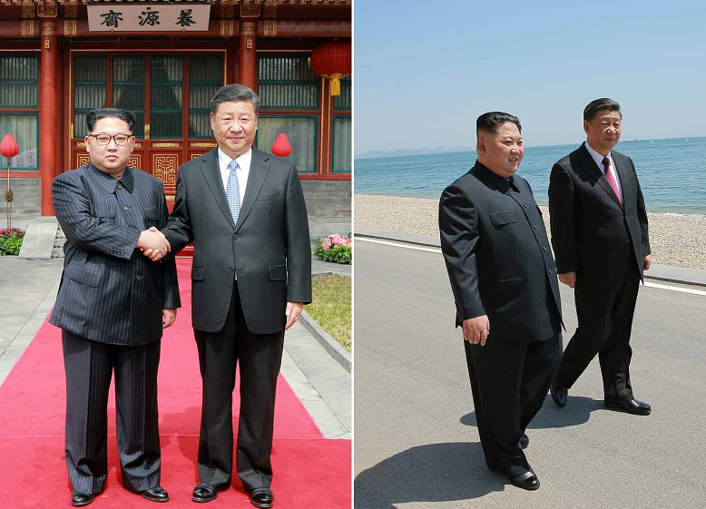 North Korean leader Kim Jong-un and Chinese President Xi Jinping met multiple times in 2018. <Photo: Yonhap News>