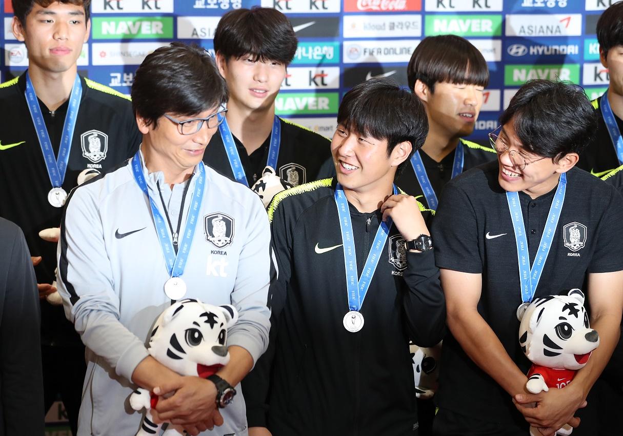 South Korea's U-20 World Cup team returns home on June 17, 2019. <Photo: Yonhap News>
