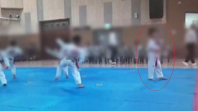 지난해 7월 서울 노원구 월계체육관에서 적발된 부정심사<tbs TV 캡처>