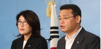 바른미래당 임재훈 사무총장(오른쪽) <사진=연합>
