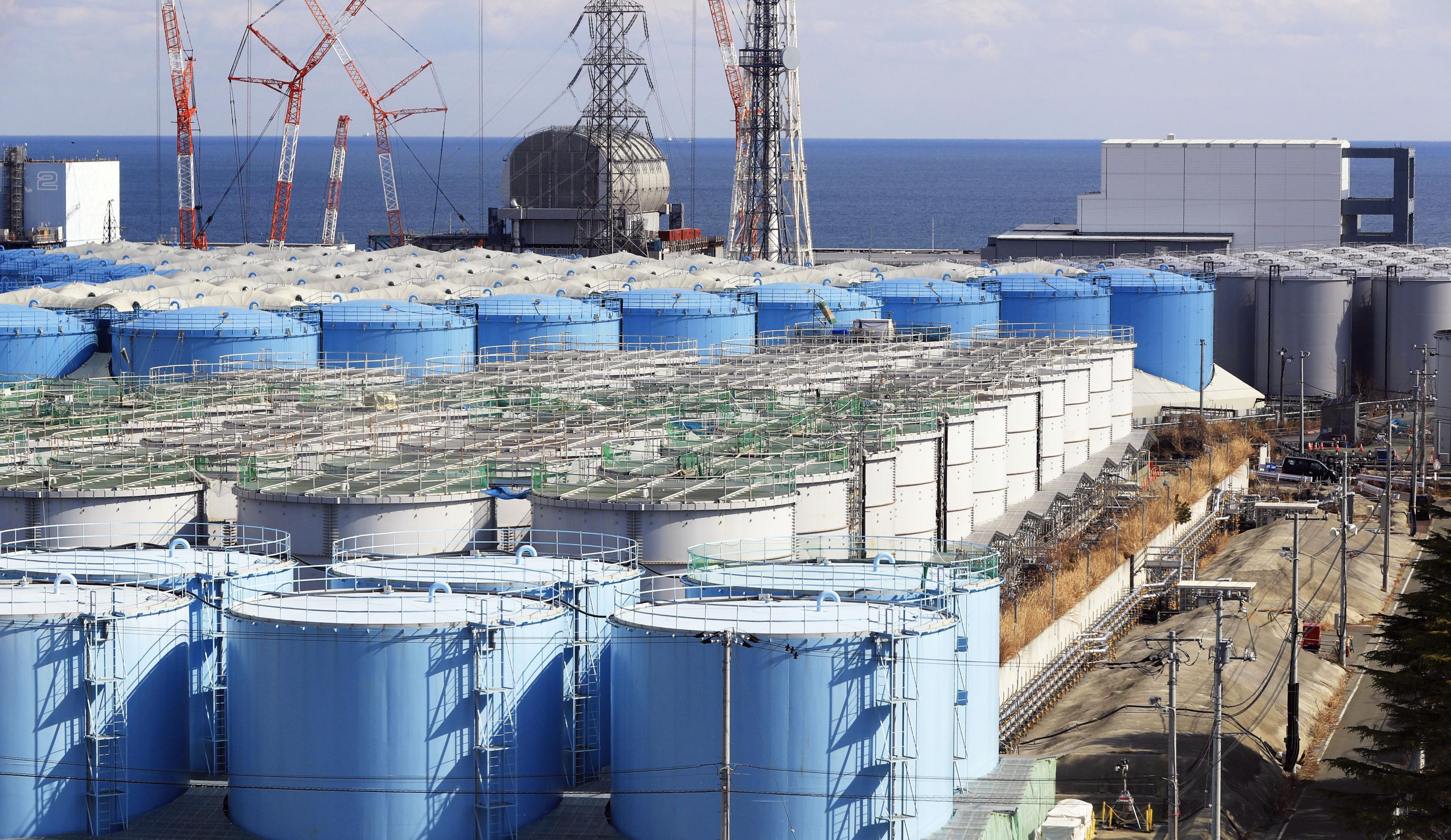 후쿠시마 원전 부지의 오염수 탱크<사진=연합뉴스>