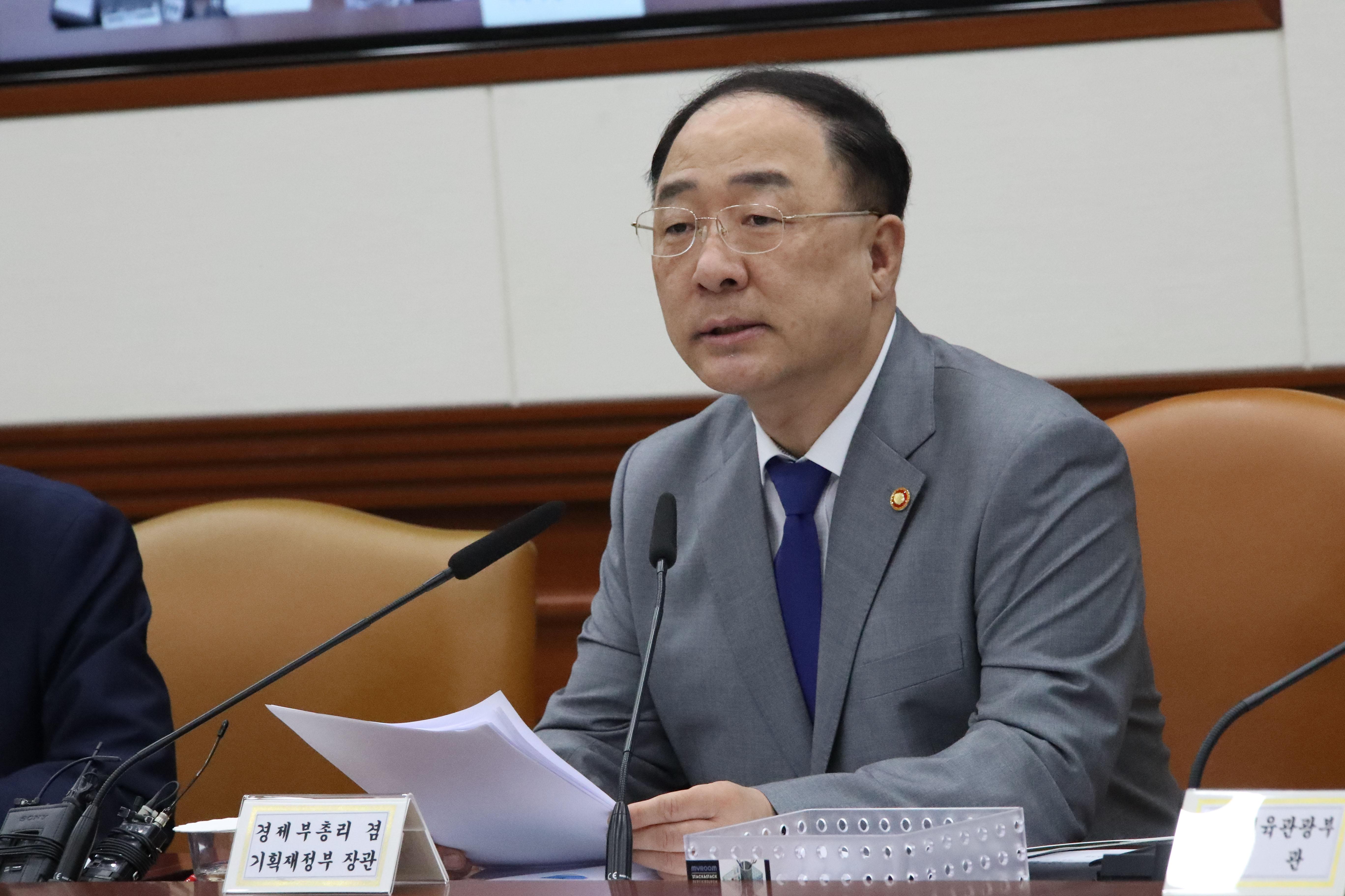 홍남기 경제부총리 겸 기획재정부 장관 <사진=연합>