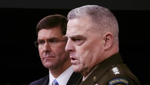 U.S. Joint Chiefs of Staff Chairman General Mark Milley (R) and Pentagon chief Mark Esper <Photo: Yonhap News>