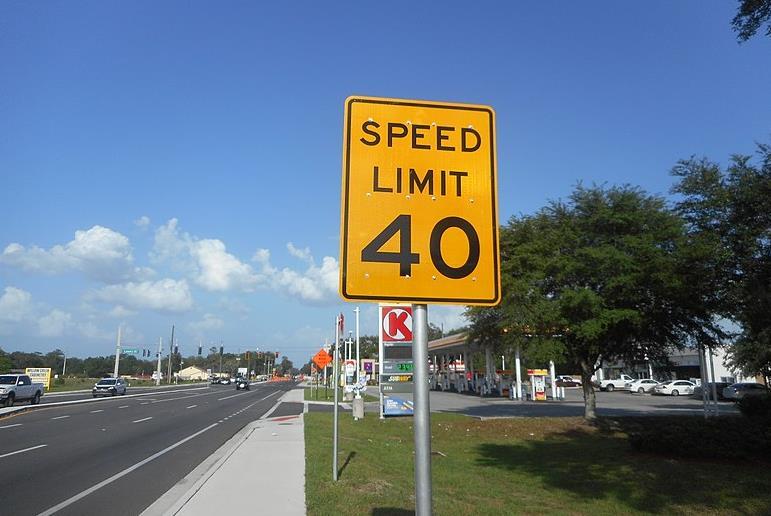 미국 도로 속도제한 표지판 <사진=연합>