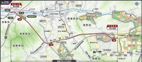국토교통부가 지난해 1월 고시한 전철 7호선 연장 기본 노선도 <사진=연합>