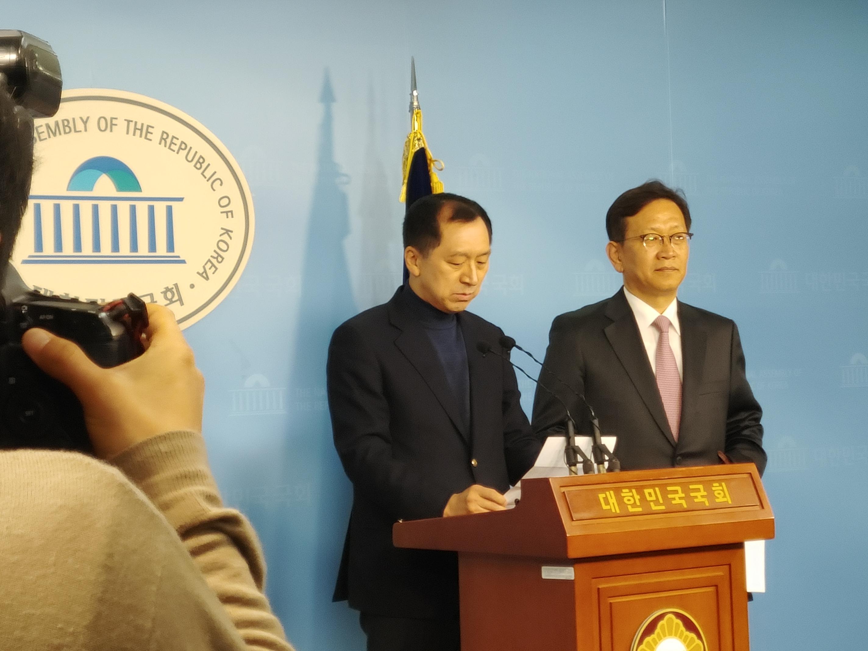 靑·경찰 선거개입 관련 기자회견하는 김기현 전 울산 시장 <사진=tbs>