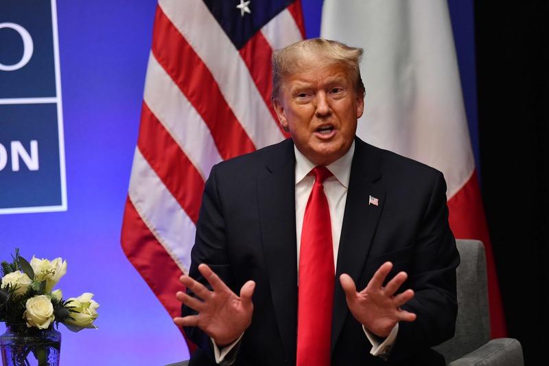 나토 정상회의에 참석한 도널드 트럼프 미국 대통령