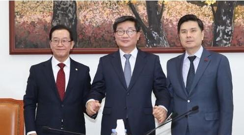 예결위 여야 간사, 자유한국당 이종배·더불어민주당 전해철·바른미래당 지상욱 의원 (왼쪽부터)