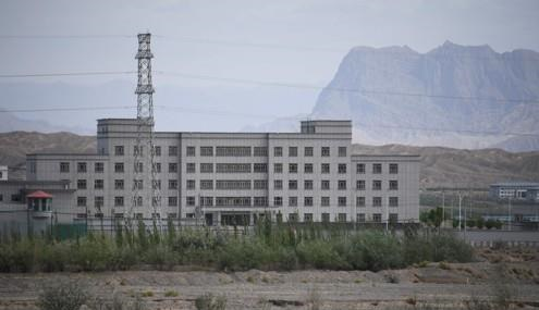 수용소로 추정되는 중국 신장의 재교육 시설