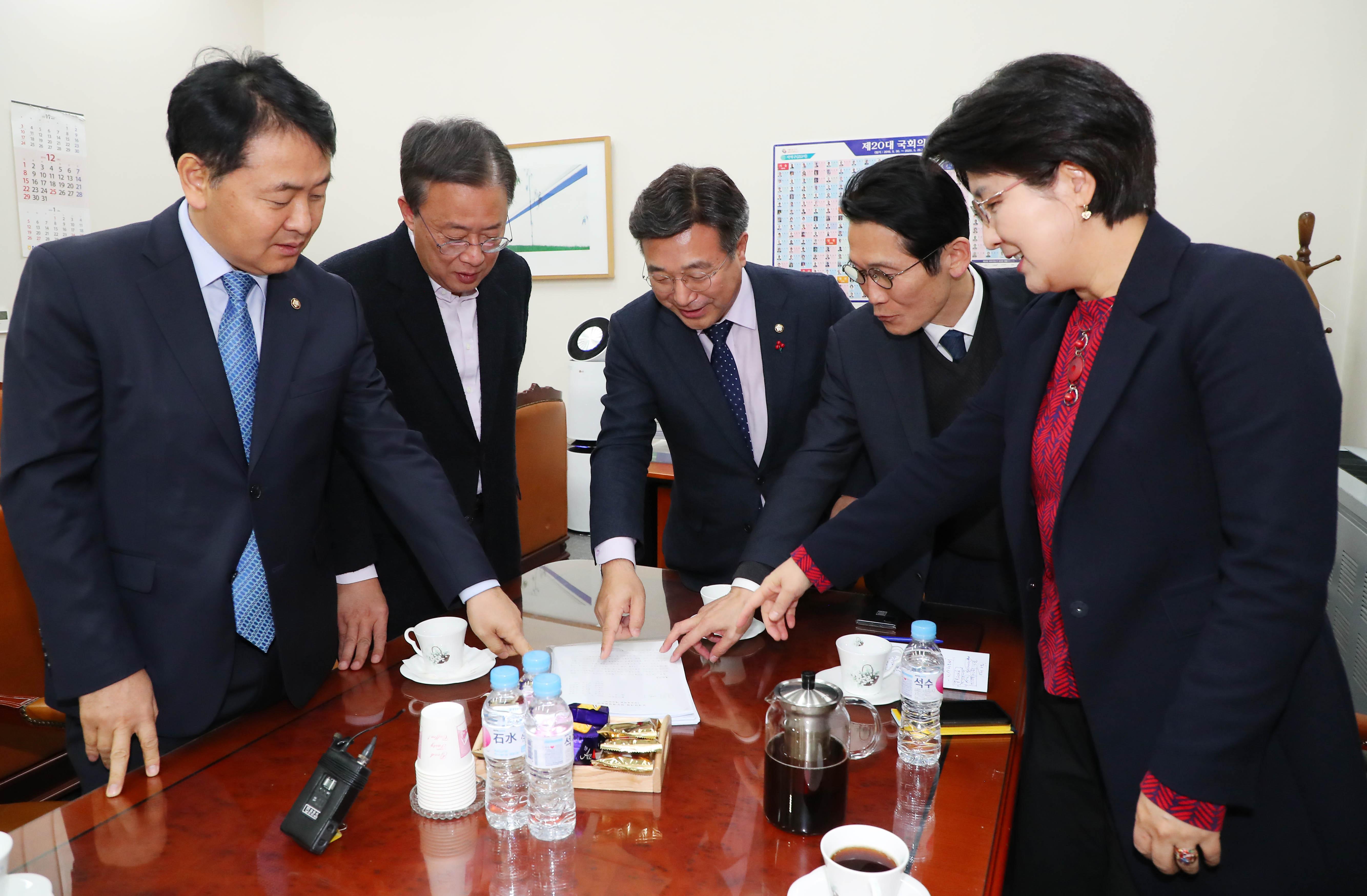 여야 4+1 선거법 협의체 회동