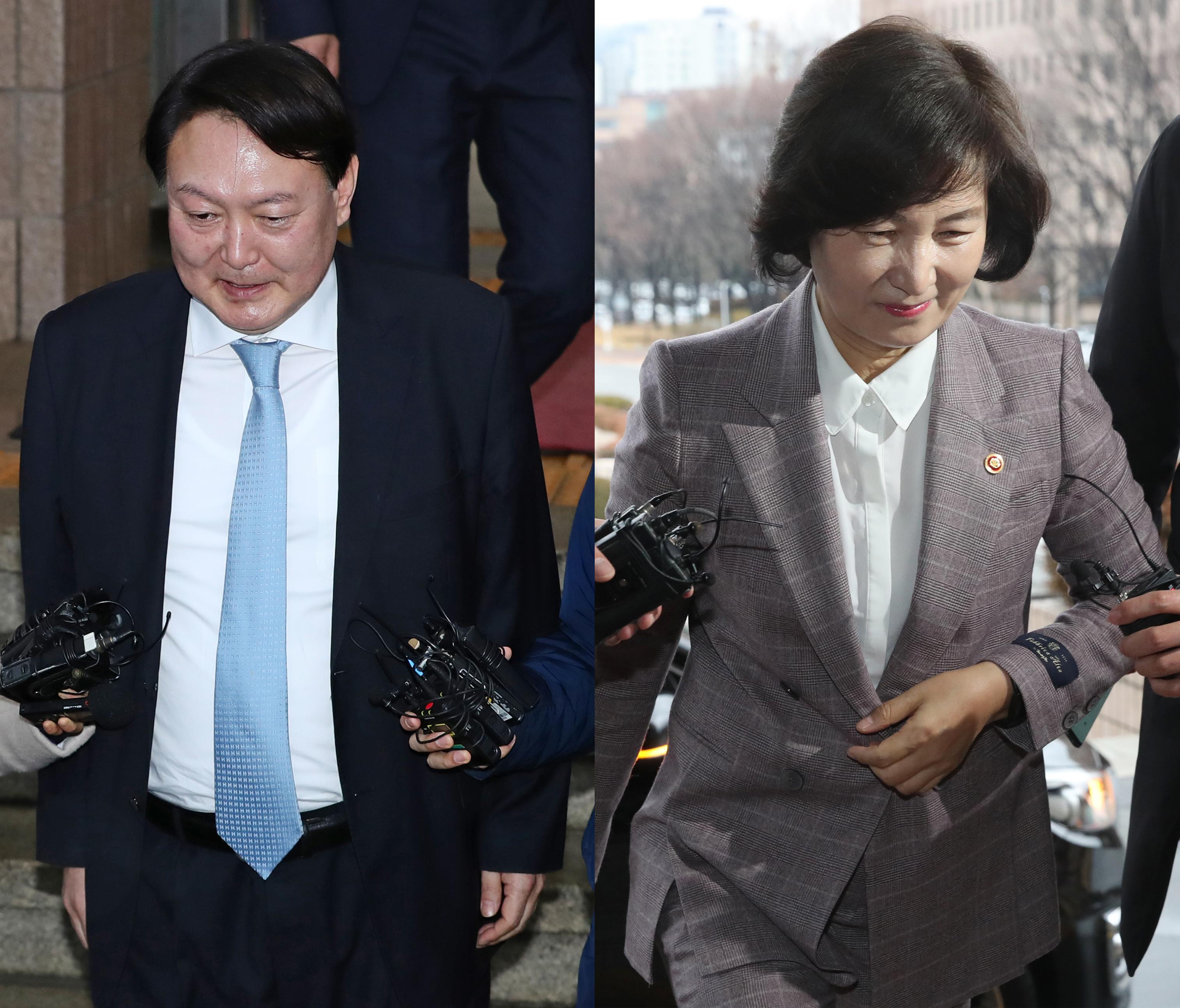 윤석열 검찰총장과 추미애 법무부 장관