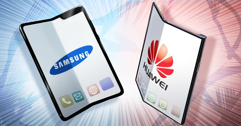 Foldable smartphones by Samsung and Huawei