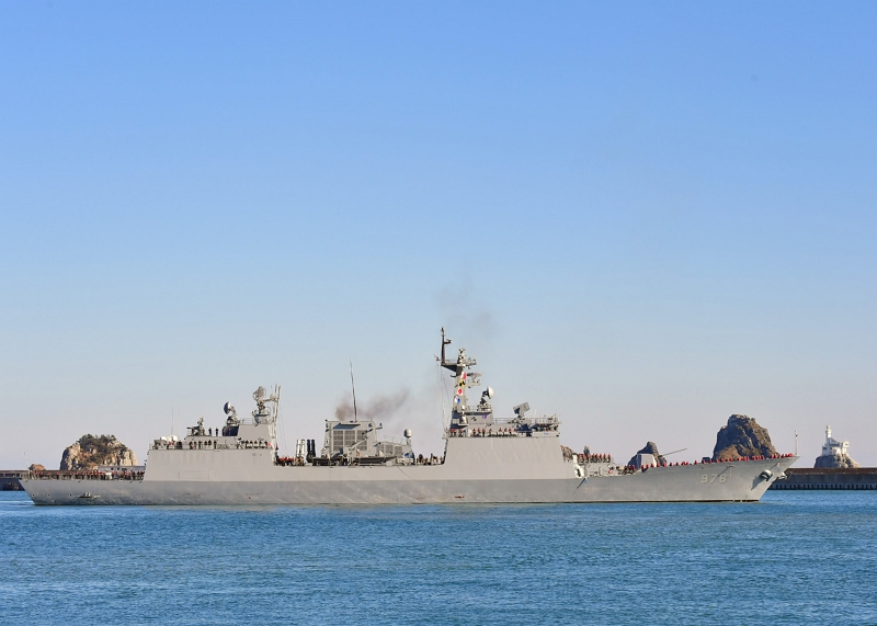 4,400-ton destroyer Wang Geon of the Cheonghae unit