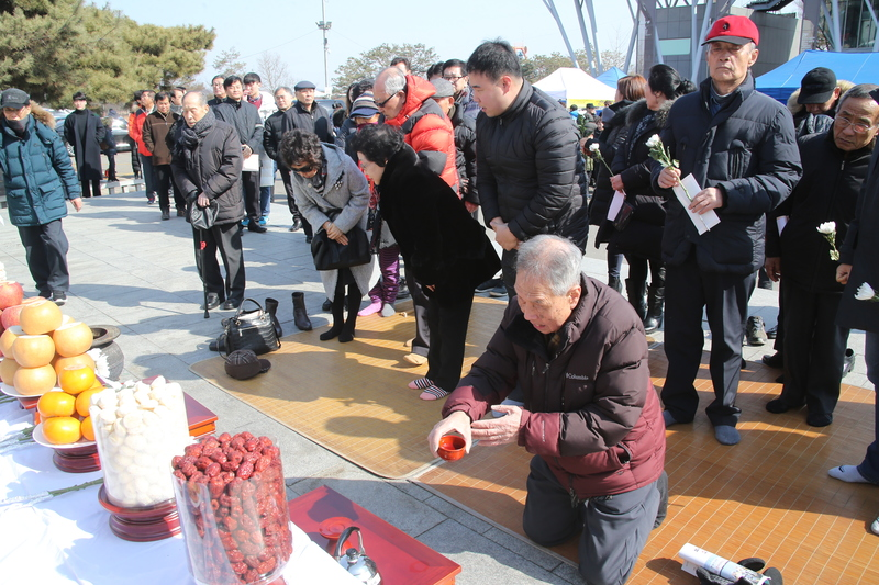Separated families at the Lunar New Year ceremony in Paju