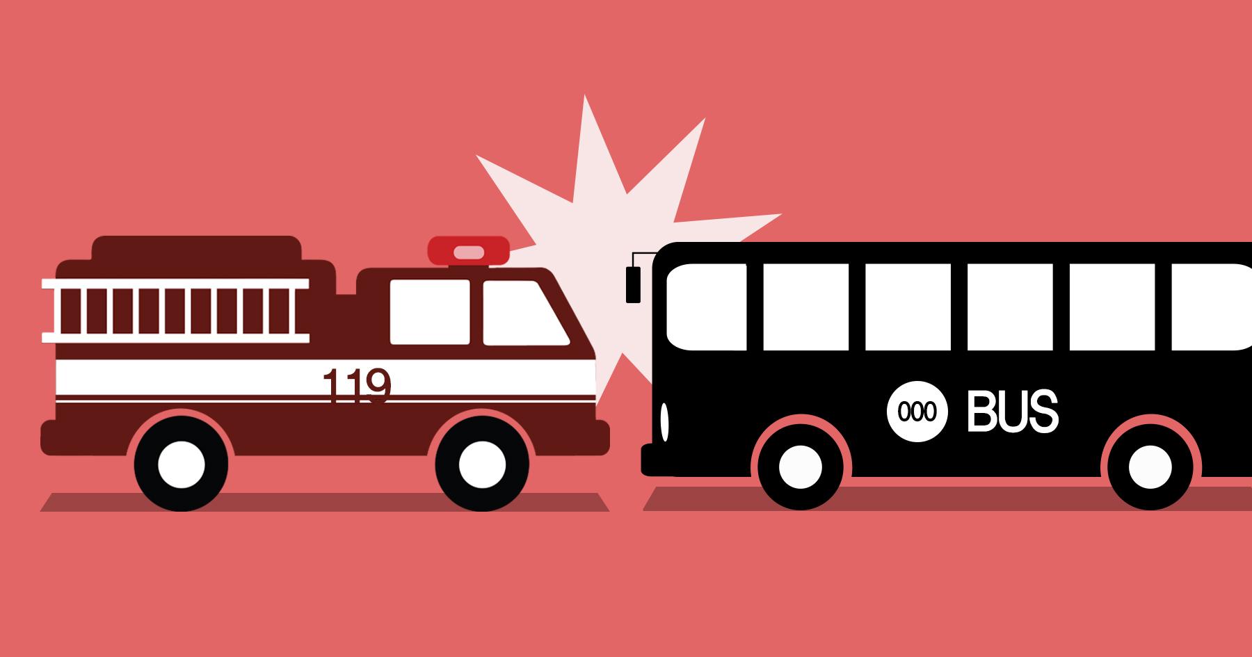 소방차 - 버스 교통사고